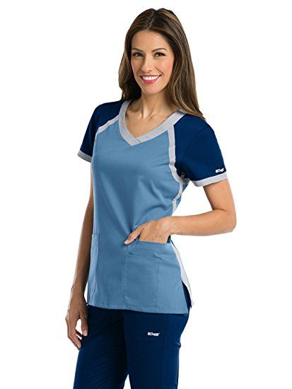 fa71f0fbe95 Amazon.com: Grey's Anatomy Active Women's Tri-Color V-Neck Scrub Top:  Clothing #amazonaffiliate