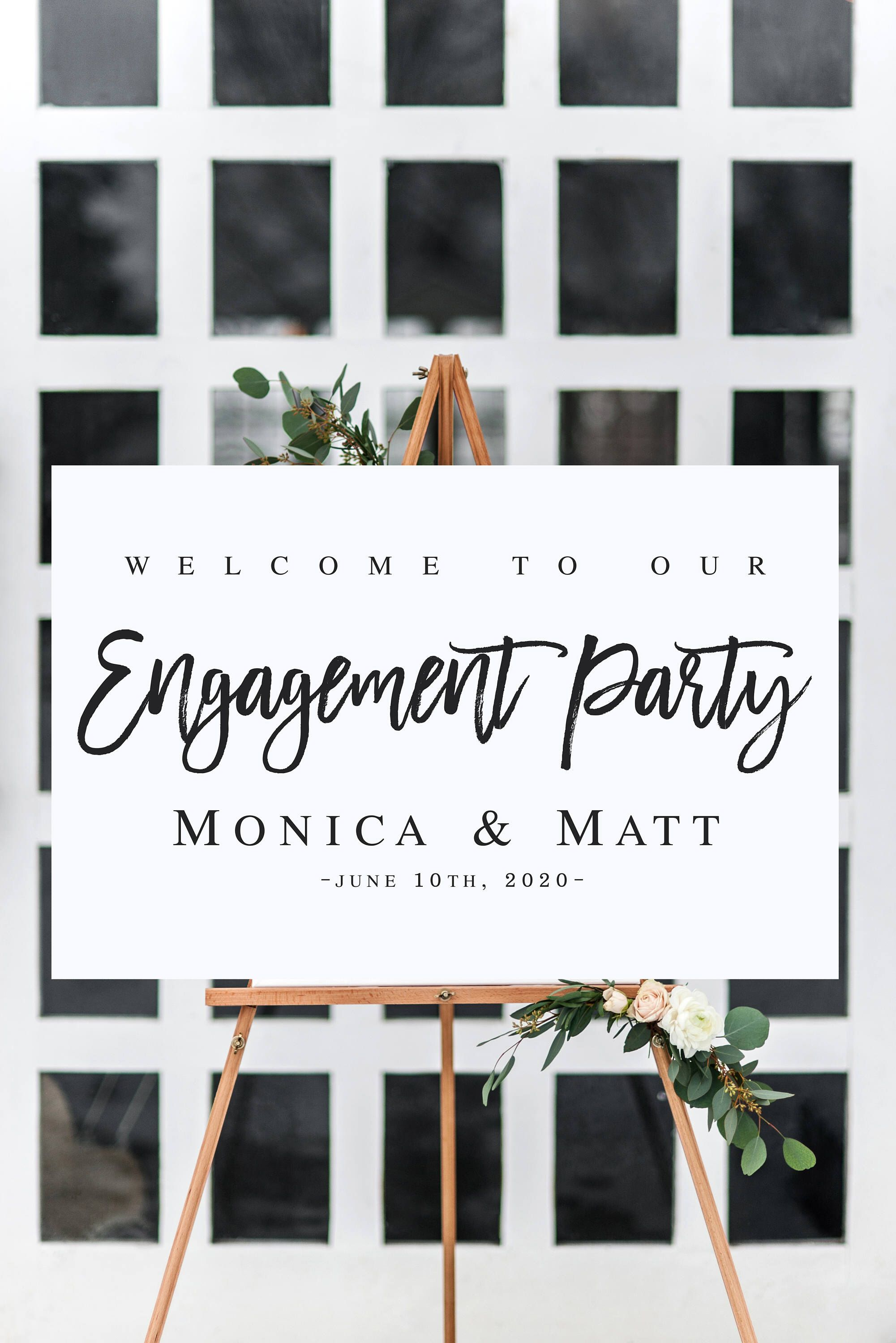 welcome to our engagement sign template welcome wedding template