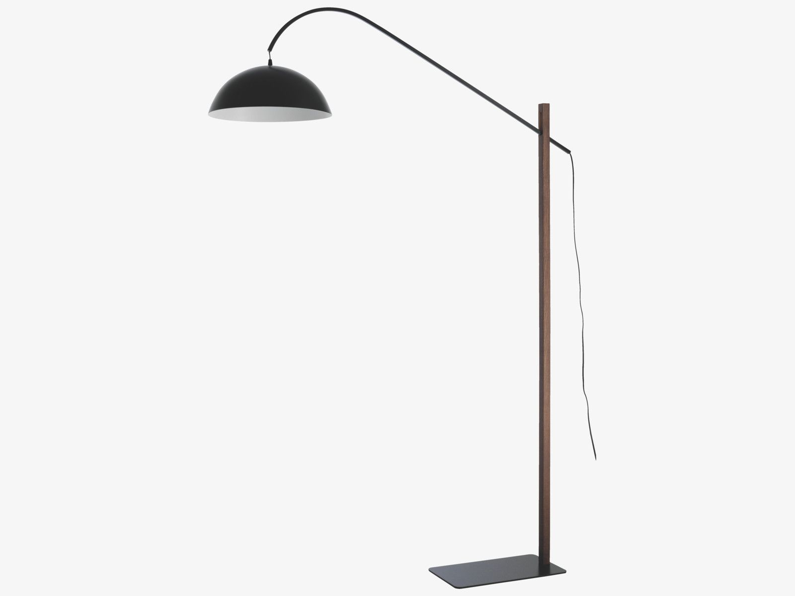 Bip Brown Wood Black And Walnut Adjustable Overreach Floor Lamp Floor Lamp Lamp Brown Wood