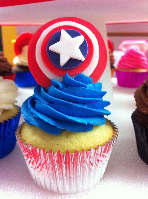 Superhero Cupcakes by jennyvier, via Flickr