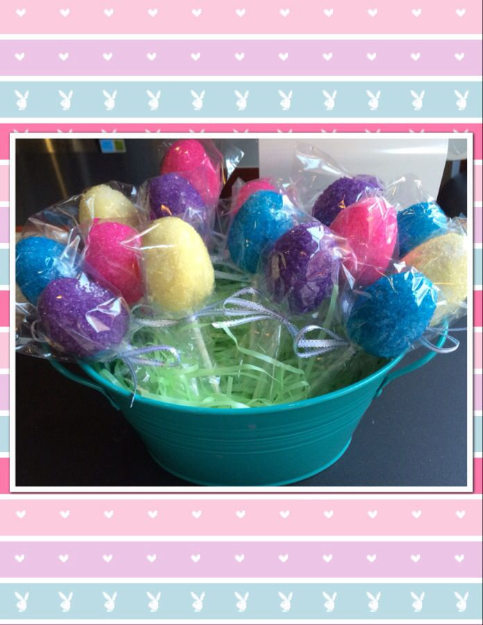 Colorful Easter Egg Cake Pop covered in bright sanding sugar