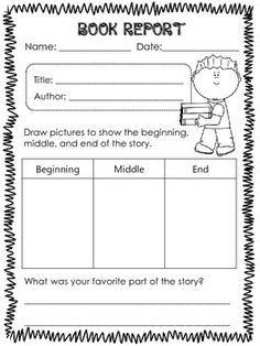 book report templates for 1st grade google search book report