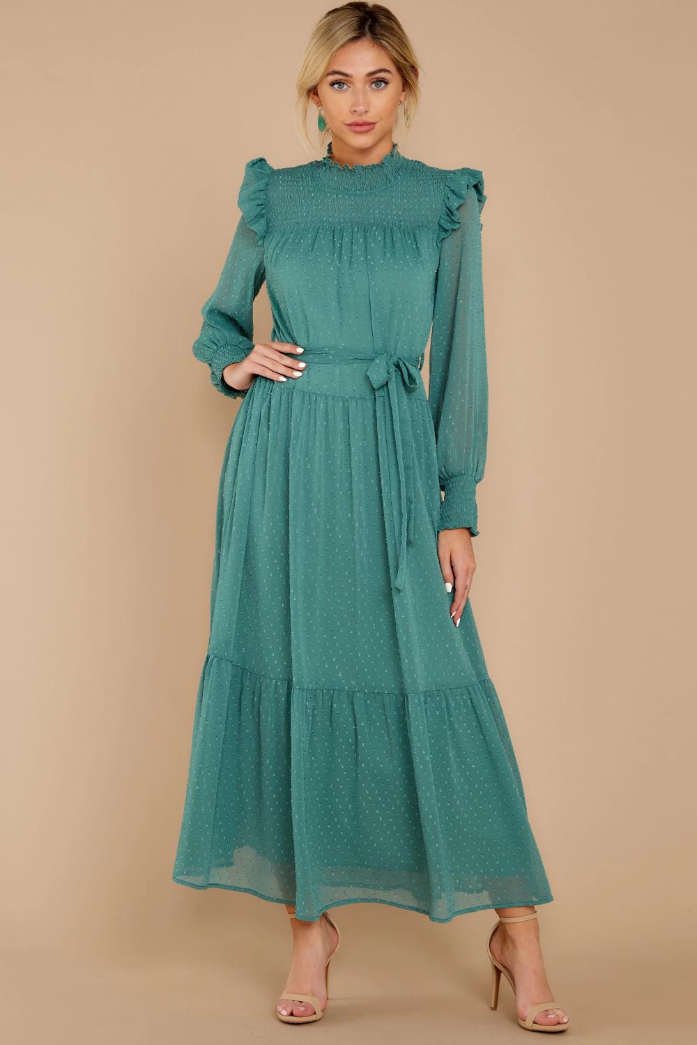 Quite Charming Sea Green Midi Dress Green Midi Dress Long Sleeve Dress Fancy Midi Dresses [ 1499 x 1000 Pixel ]