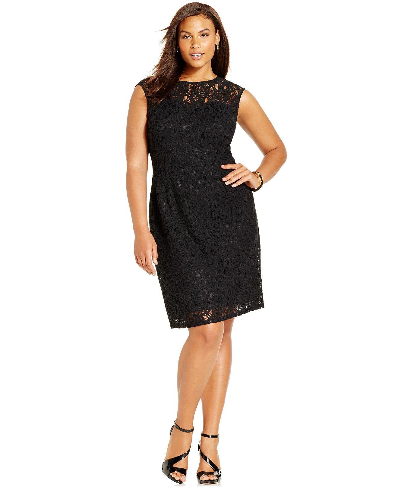 d3ca09dd455 Spense Plus Size Illusion Lace Dress - Dresses - Plus Sizes - Macy s ...
