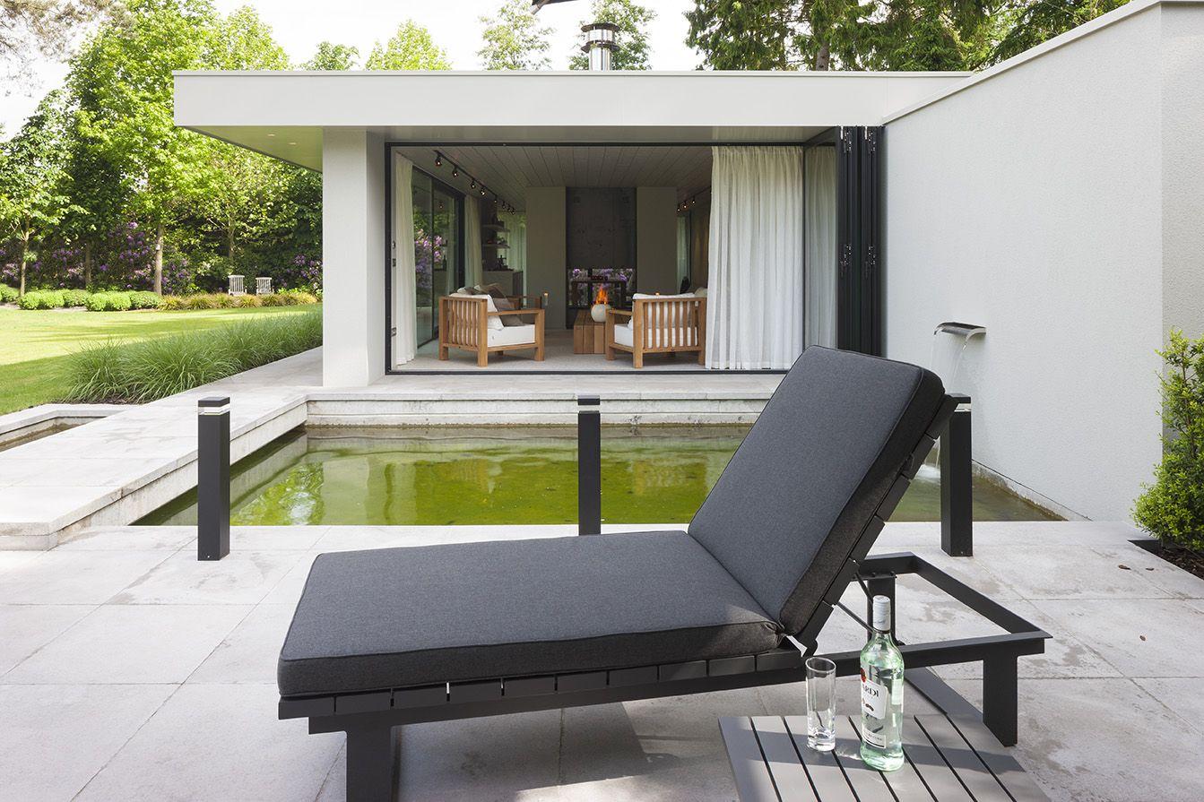 Interieurfotografie van een modern tuinpaviljoen te turnhout