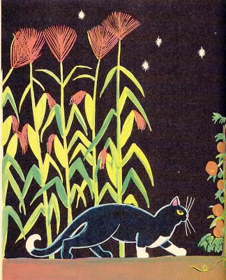 The Cat at Night, written & illustrated by Dahlov Ipcar, 1969.