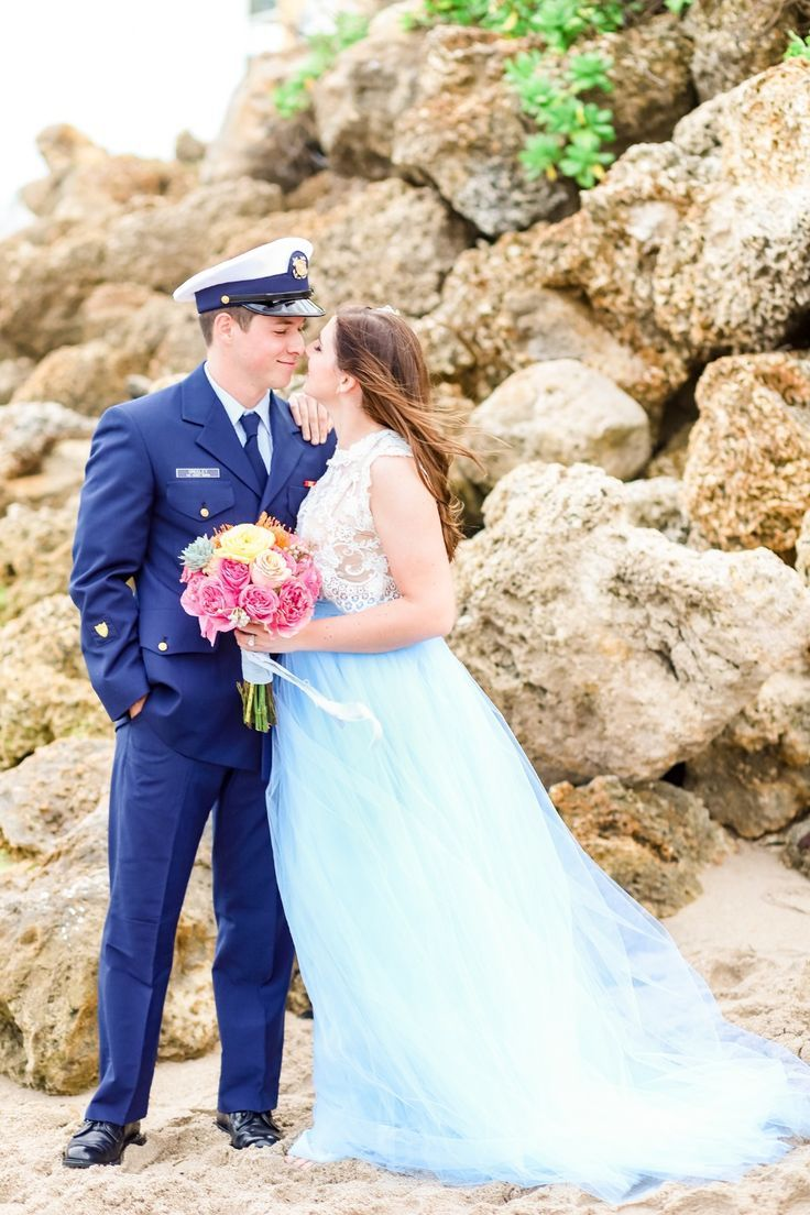 Wedding photography inspiration blue tulle wedding dress with lace