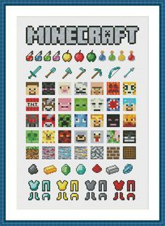 Minecraft Cross Stitch PDF Pattern Sampler | Craftsy