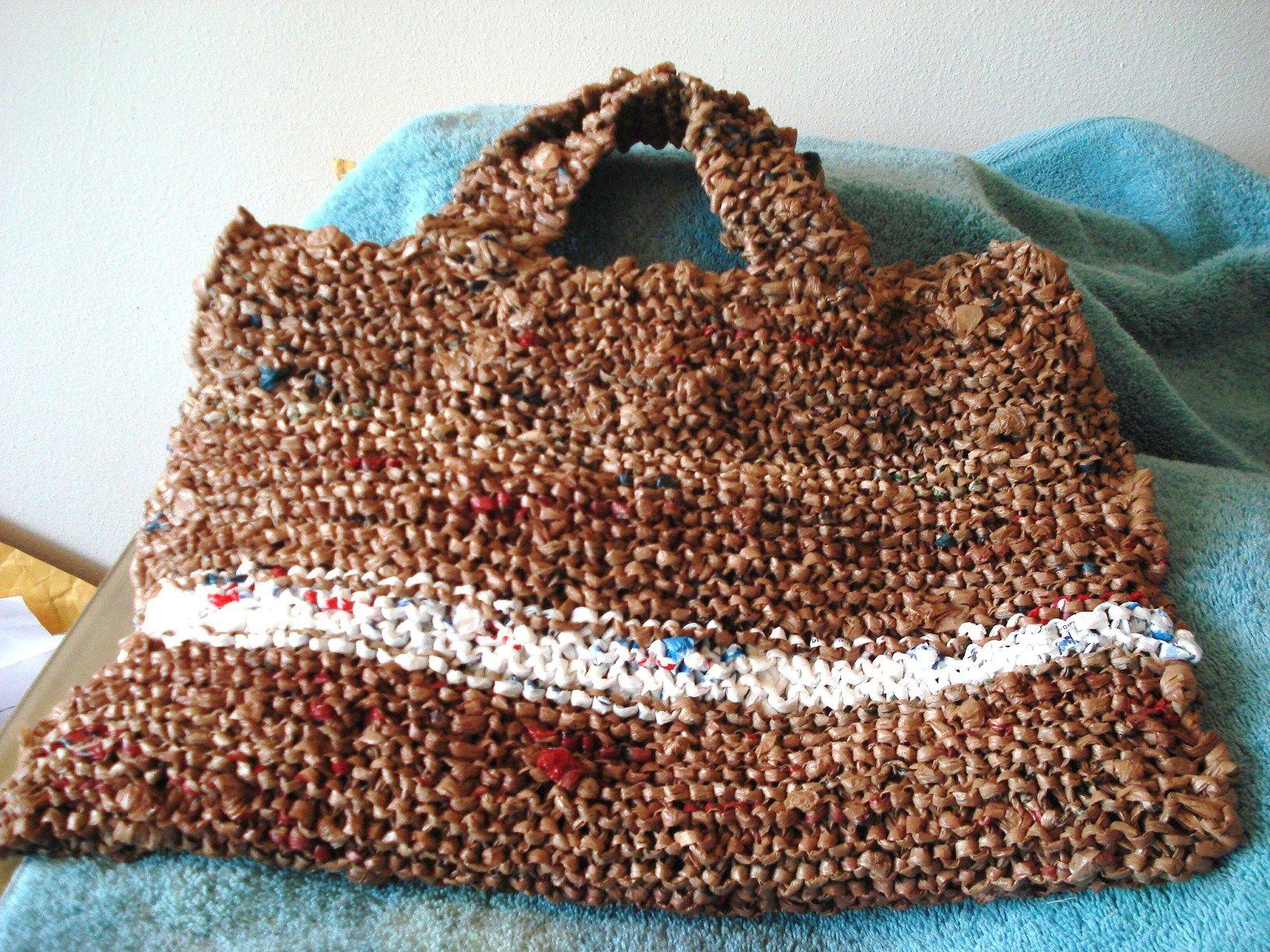 A Plarm bag I made out plastic bags.