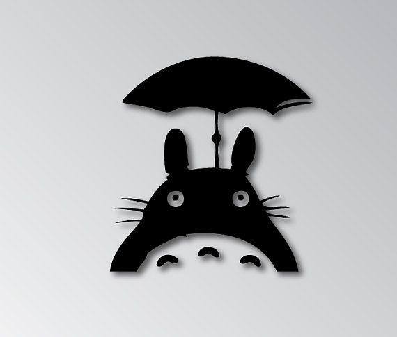 Bring your neighbor totoro with you everywhere this decal will be on pressure sensitive adhesive vinyl each decal measures in at 5 x decals will come with
