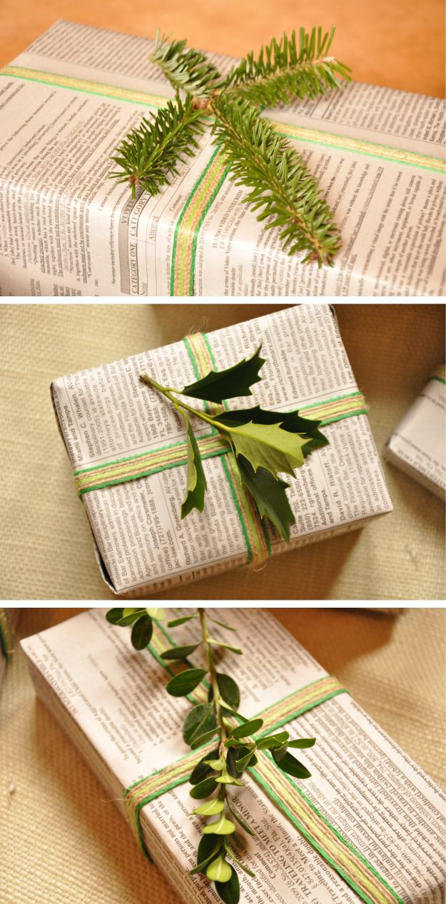 Go green with holiday wrapping christmas pinterest