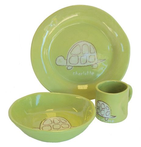 Sprout Turtle Character Ceramic Dish Collection Jack And Jill Boutique Ceramic Dishes Kids Dinnerware Ceramics