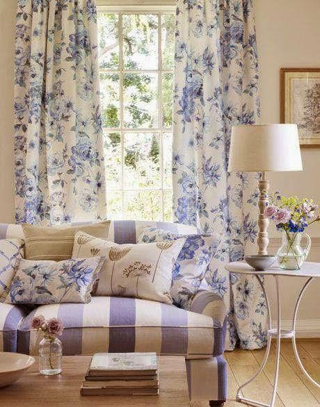 Pin de Norlida en curtain Pinterest Cortinas - cortinas azules