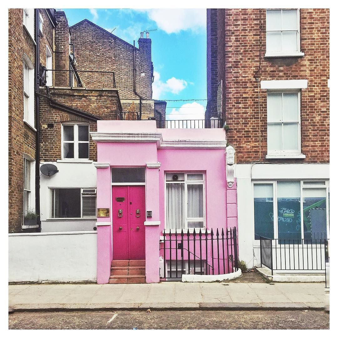 Pink house | Blue sky #NottingHill #pinkstagram #architecture ...
