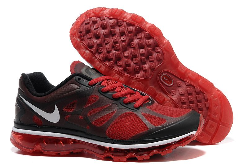 Action Red Black Dark Grey Shoes Nike Air Max 2012 Men's Running Shoes # Womens #