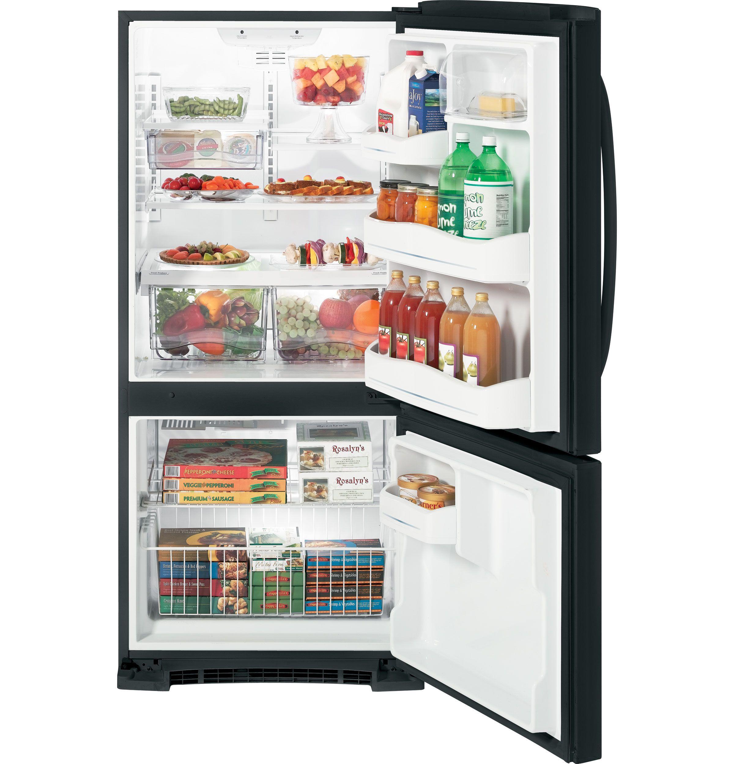 Garage Fridge Ge Energy Star 20 3 Cu Ft Bottom Freezer Refrigerator Gbsc0hbxbb With Images Refrigerator Bottom Freezer Refrigerator Stainless Steel Refrigerator