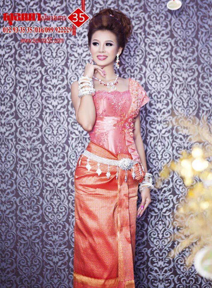 Orange is beautiful! | Cambodian Wedding Dresses for Groom and Bride ...