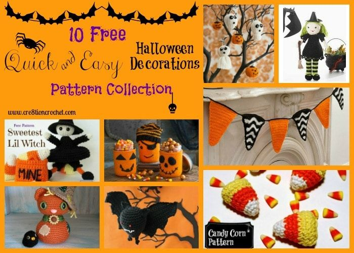 Quick  Easy Halloween Decorations Pattern Collection - Cre8tion - patterns for halloween decorations