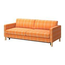 KARLSTAD 3-seters sovesofa - Husie oransje - IKEA