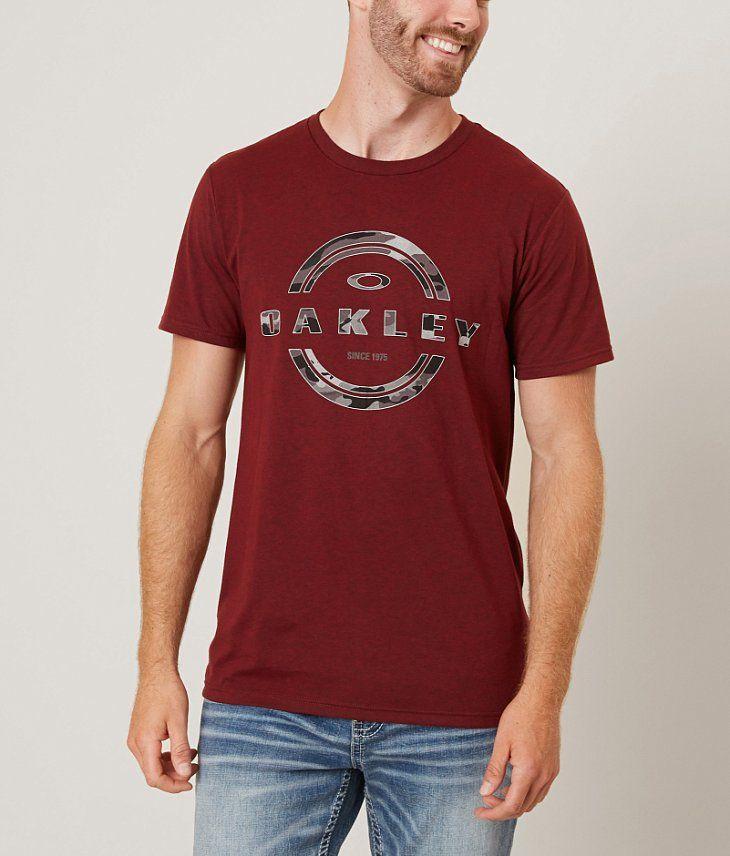 Oakley 50-Camo T-Shirt - Men's T-Shirts in New Crimson Dark Heather