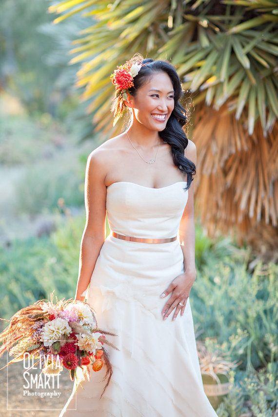 Copper Wedding Gown Belts