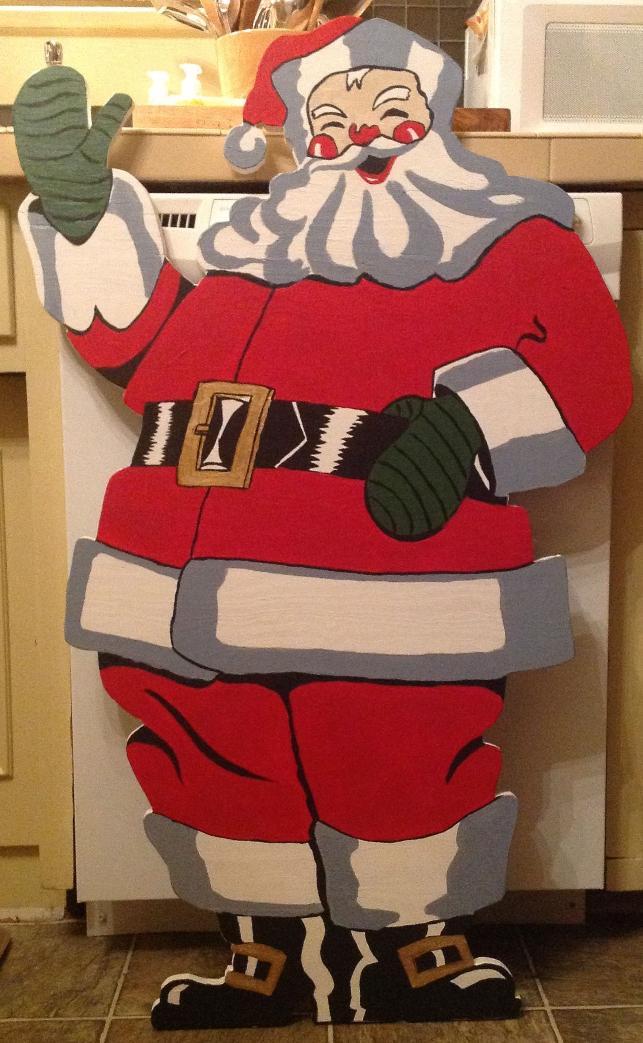 finally finished santa made from 1955 easi bild pattern here