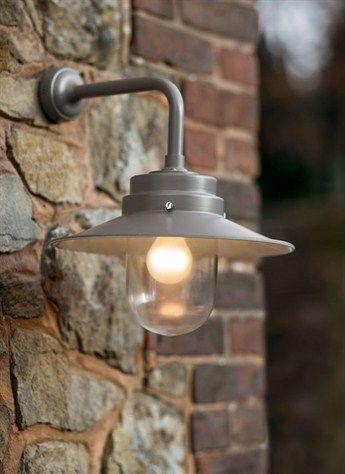 Belfast Light In Coffee   Contemporary Outdoor Garden Wall Lighting