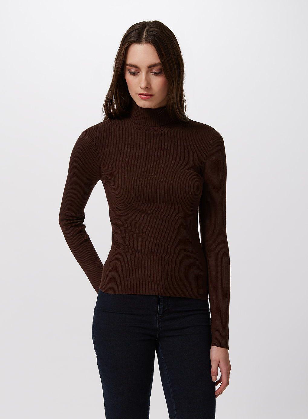cb3edb4d0 Womens chocolate rib roll neck jumper from Miss Selfridge - £25 at ...