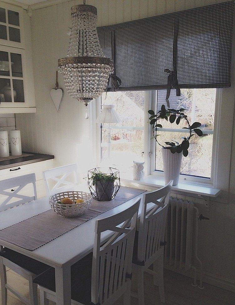 raffrollos in grau und wei kariert f r skandinavische. Black Bedroom Furniture Sets. Home Design Ideas
