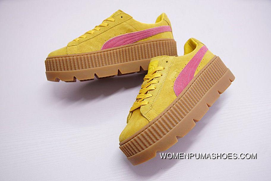Puma Cleated Creeper Rihanna Fenty Suede Lemon (W)