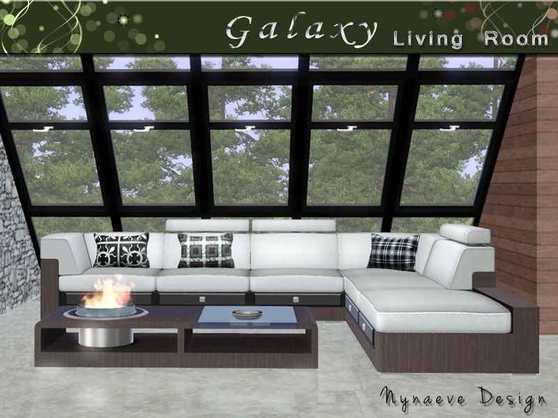 NynaeveDesign's Galaxy Living Room | Sims 3 living room ...