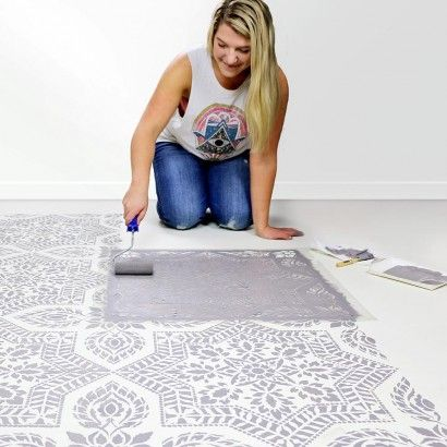 Floor Stencils Reusable Floor And Tile Stencils For