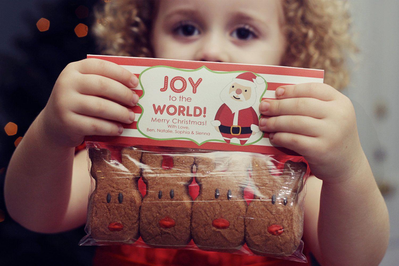 Christmas Treat Bag Tags: Santa - Printable PDF. $8.00, via Etsy.