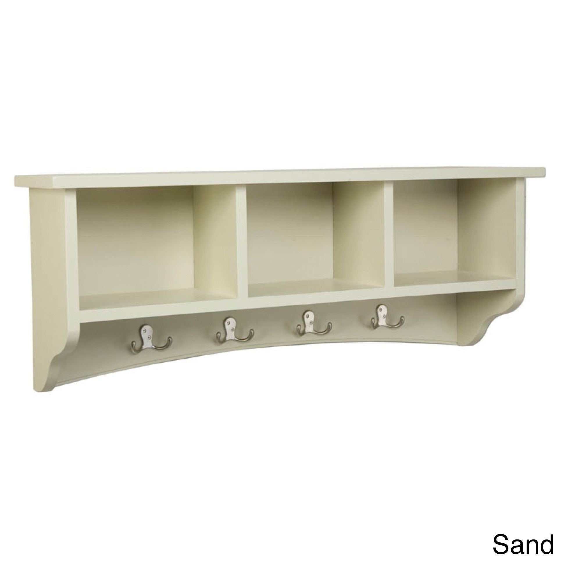 Bolton Furniture Fair Haven Storage Wall Coat Hook with Cubbies ...