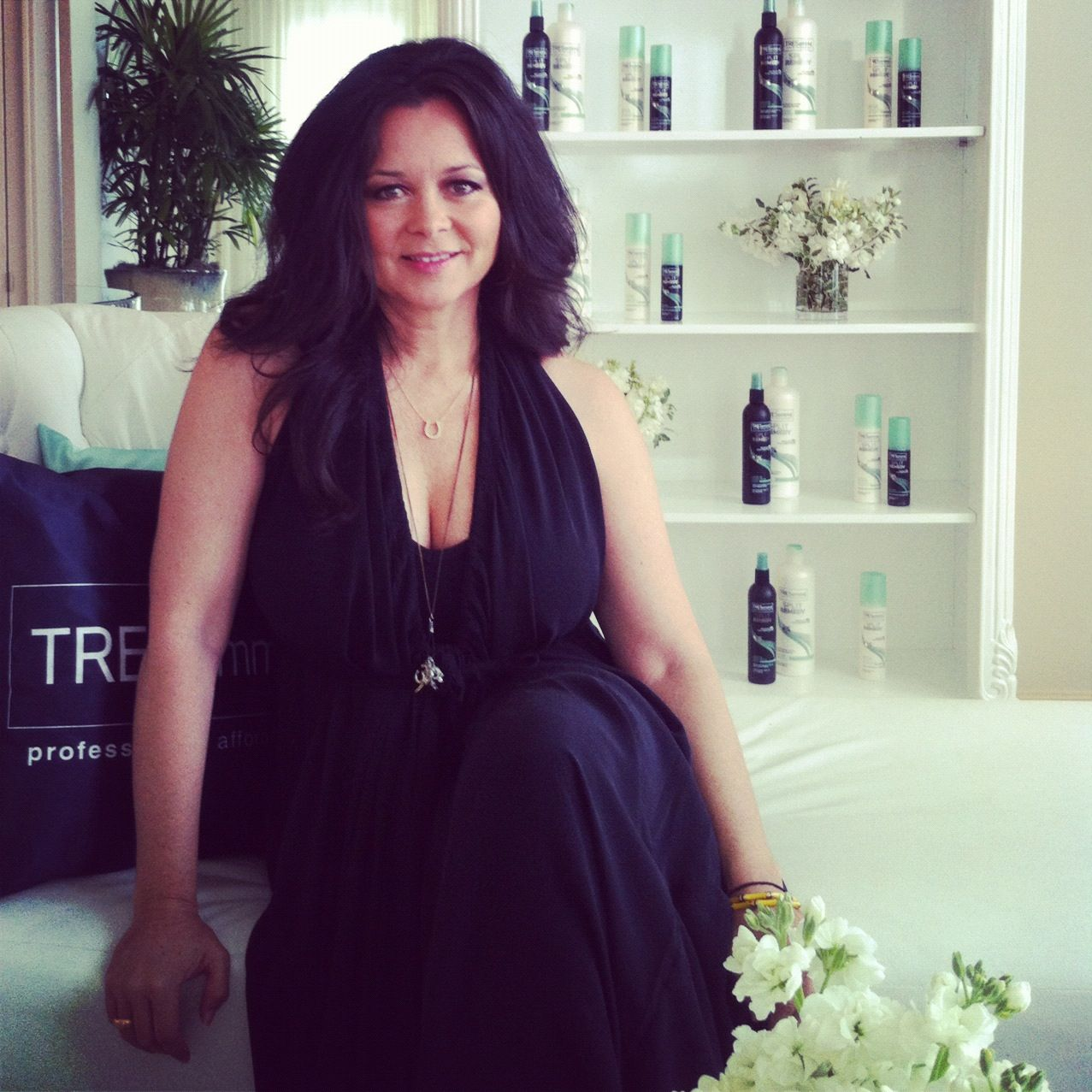 #TRESemme stylist, Elsa, in the VIP suite at @mercedes-benz fashion week  #miami #runway #fashion #fashionshow #swimwear #swimsuit #hair