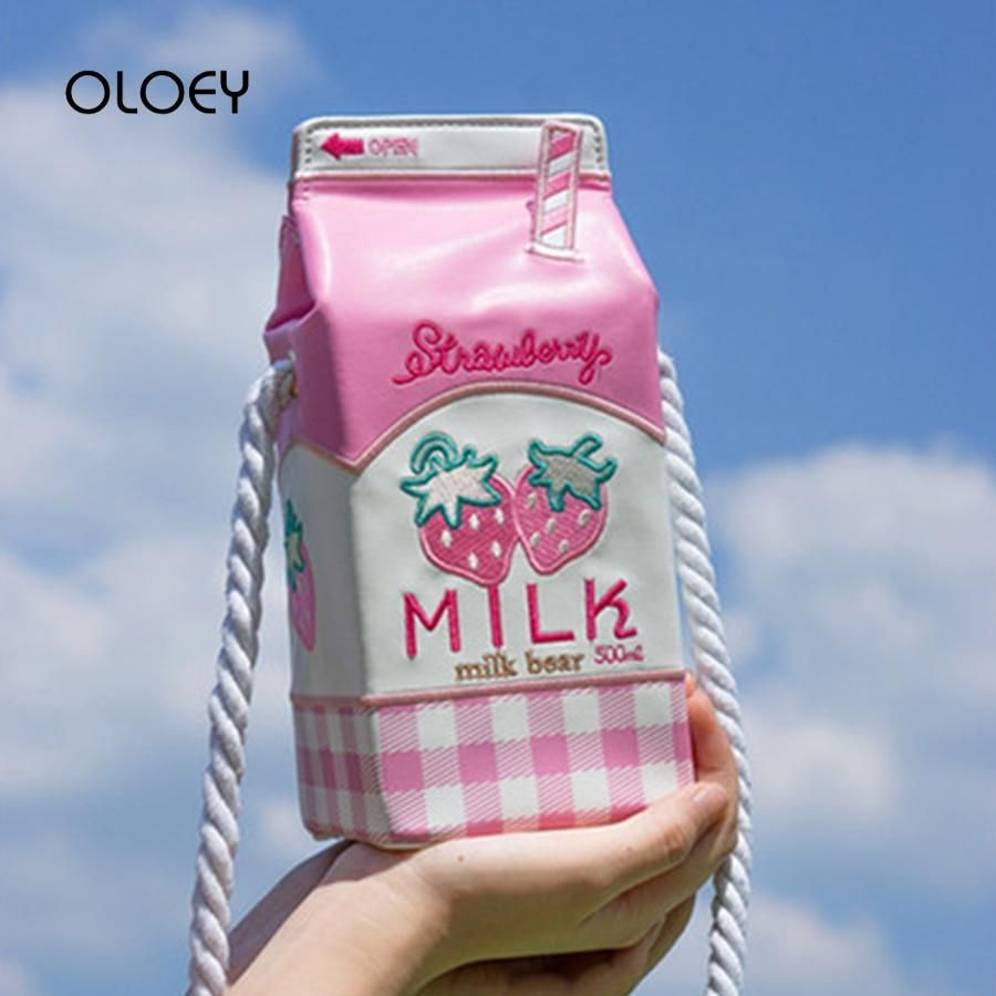 Kawaii Harajuku Milk Box shoulder Bag