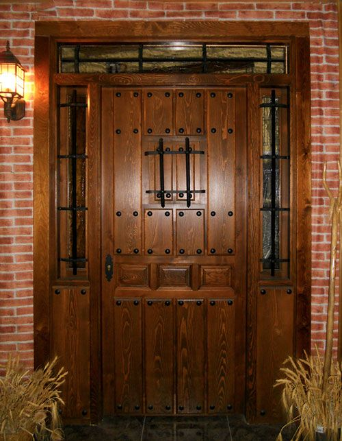 Modelo r stica 66 trabajos pinterest r stico modelo for Puertas principales de madera rusticas