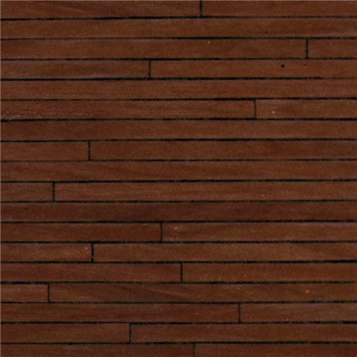 Dollhouse Flooring Installation: 1/24 Scale Dark Wood Flooring Paper