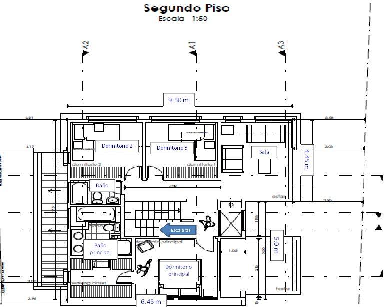 Plano casa de dos pisos 140 m2 casa casas de dos pisos for Casa moderna 140 m2