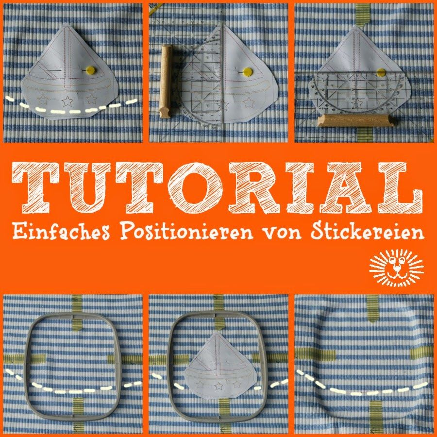 Positionieren von Stickdateien ... 	exact positioning of embroideries