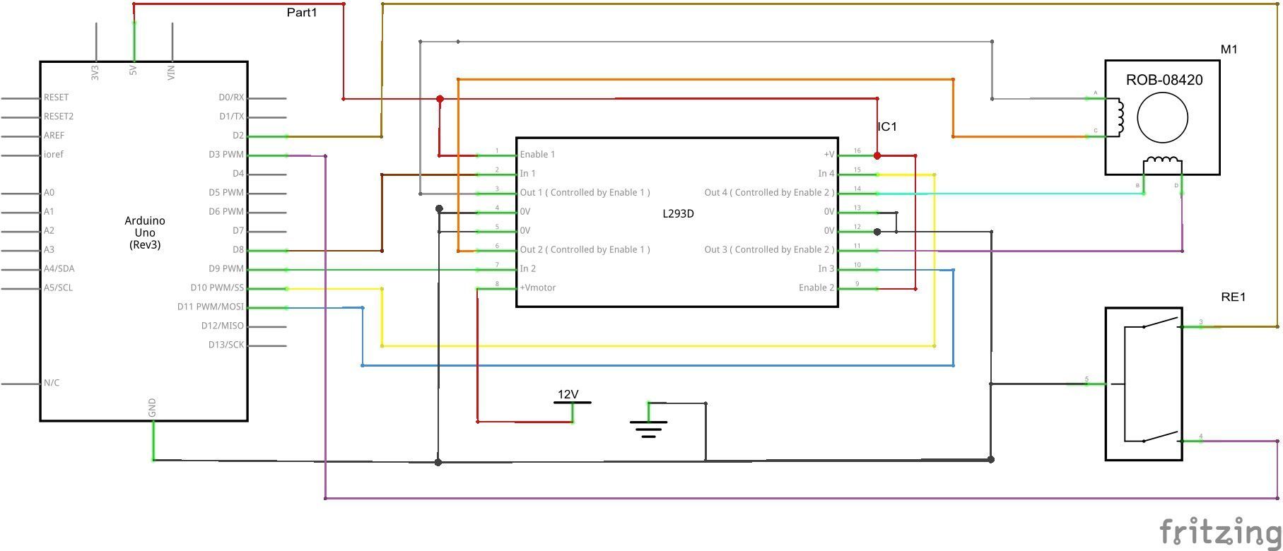 How To Use A Rotary Encoder With Arduino Board And H Bridge Chip Diagram Together L298 Circuit Pin On Control Bipolar Stepper Motor The Code Scheme