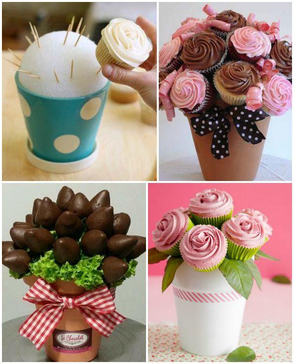 Macetas de chuches cup cakes cake and fiestas - Macetas de chuches ...