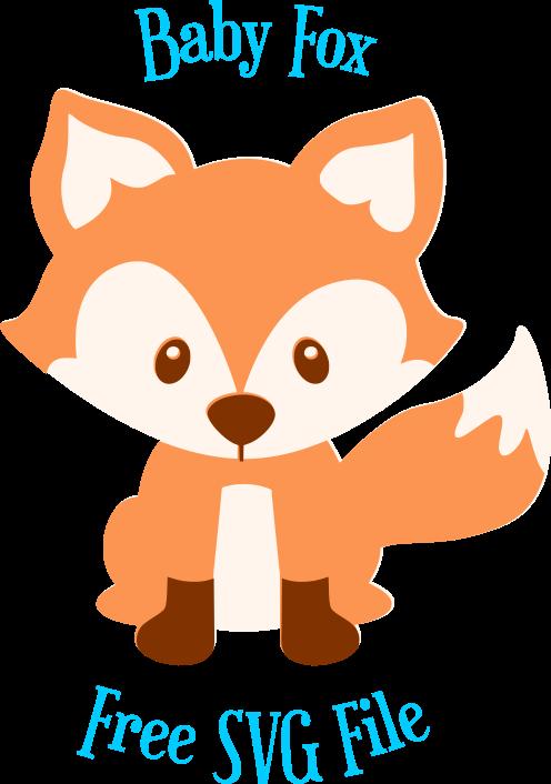 free fox svg cut file  cute woodland animal svg cut files