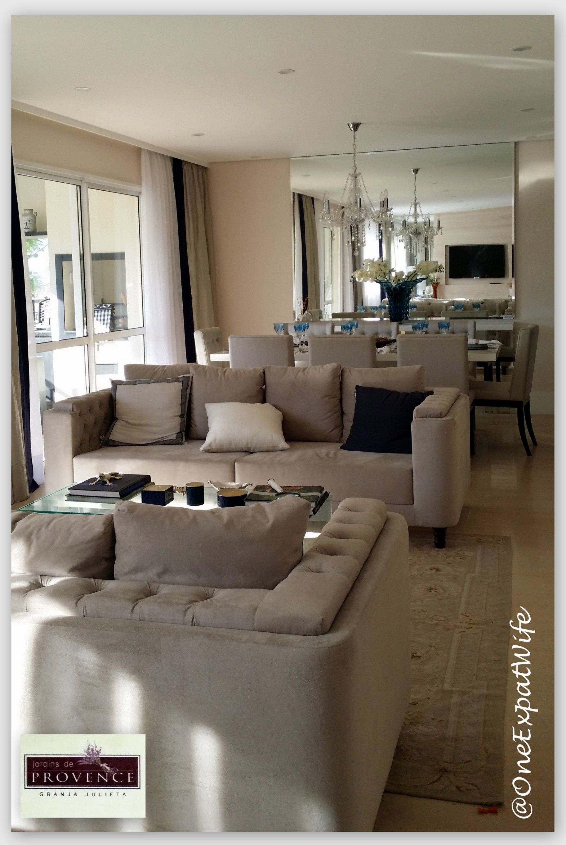 Linda Sala De Estar Apartamento Decorado Jardins De Provence  -> Sala De Estar Apartamento Decoracao