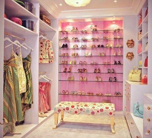 Closet #mujer #bolsos #zapatos #ropa #moda #femenina #pink #girly