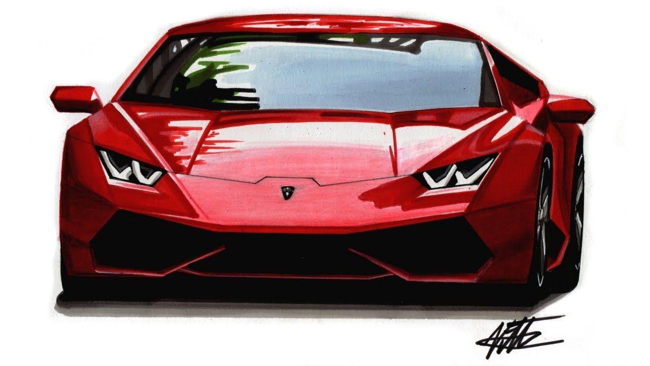 How To Draw A Realistic Supercar Lamborghini Huracan Tutorial Super Cars Lamborghini Lamborghini Huracan