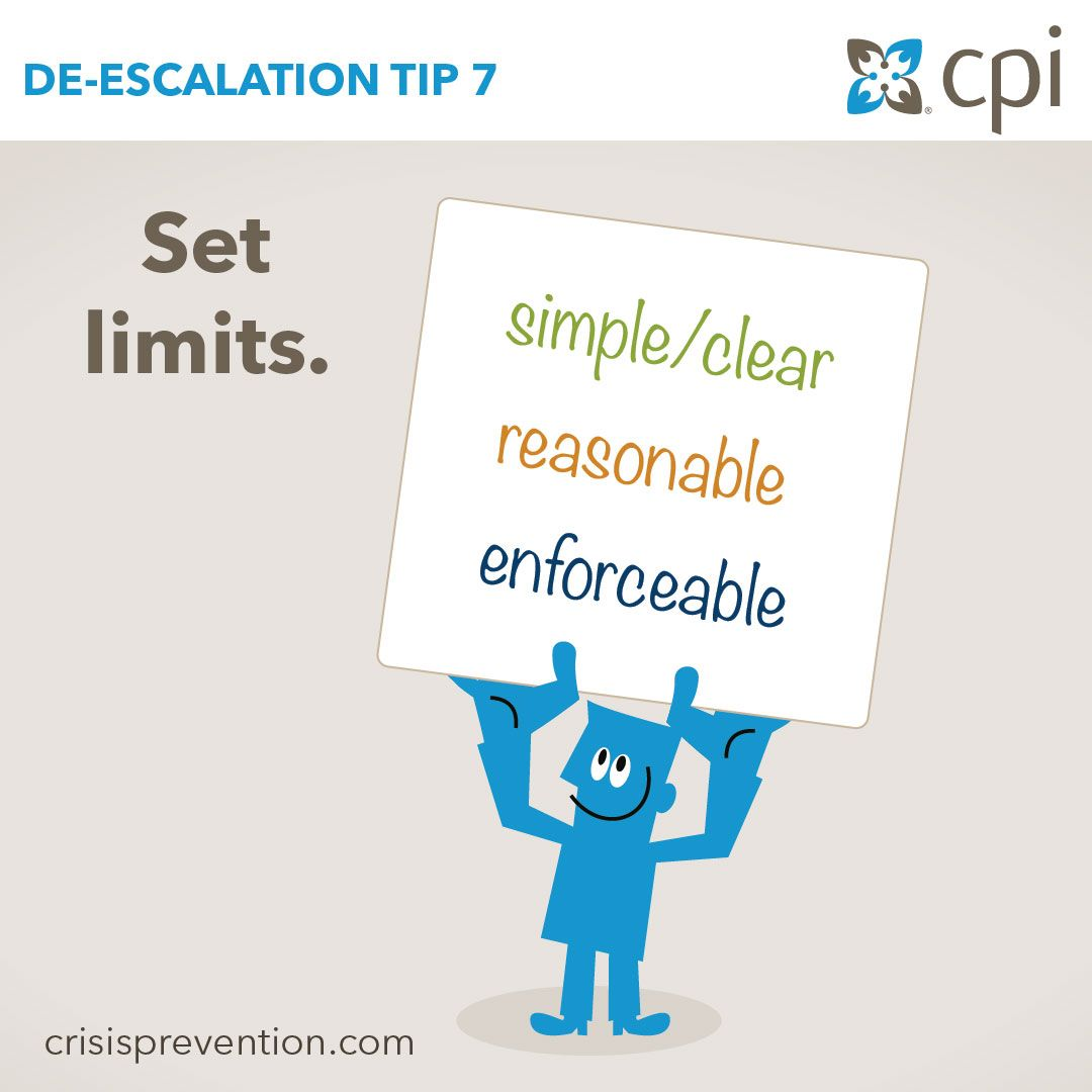 De Escalation Tip Of The Day Set Limits