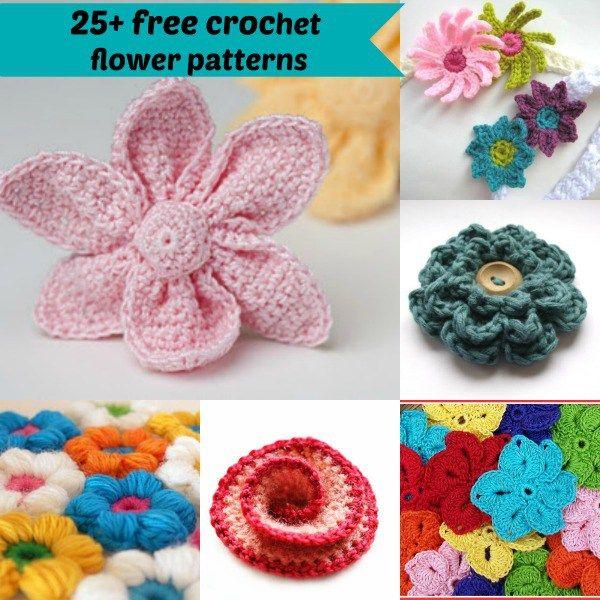 25 Free Crochet Flower Patterns By Jennyandteddy Individual Links