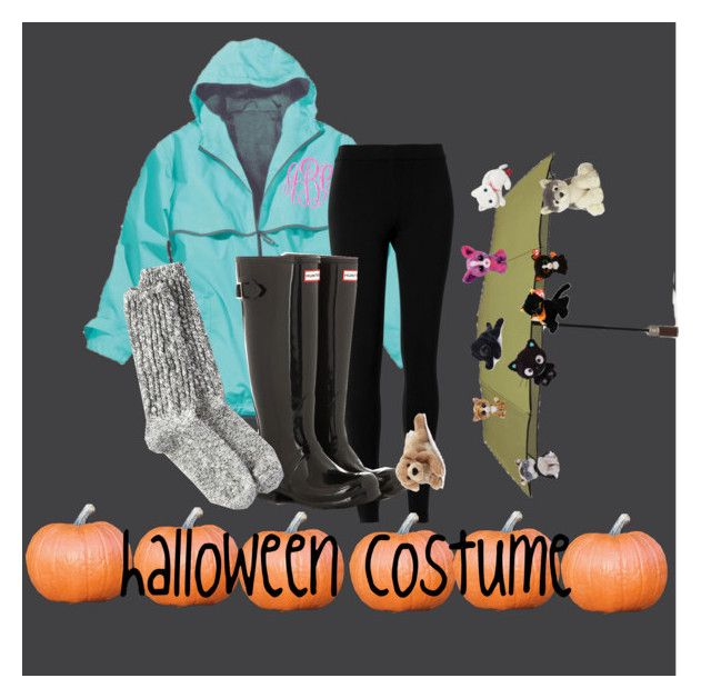 """""""raining cats and dogs halloween costume (last minute)"""" by kateeubanks ❤ liked on Polyvore featuring moda, Max Studio, Hunter, American Eagle Outfitters e Gund"""