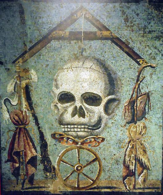 POMPEII, ITALY~Memento Mori Mosaic (Remember your mortality ...